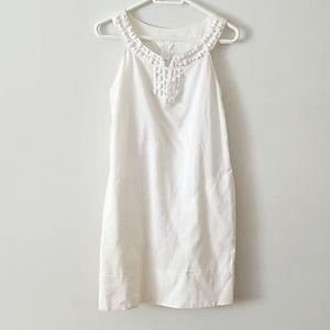 Linen Blend Retro Style Dress with Bead detail